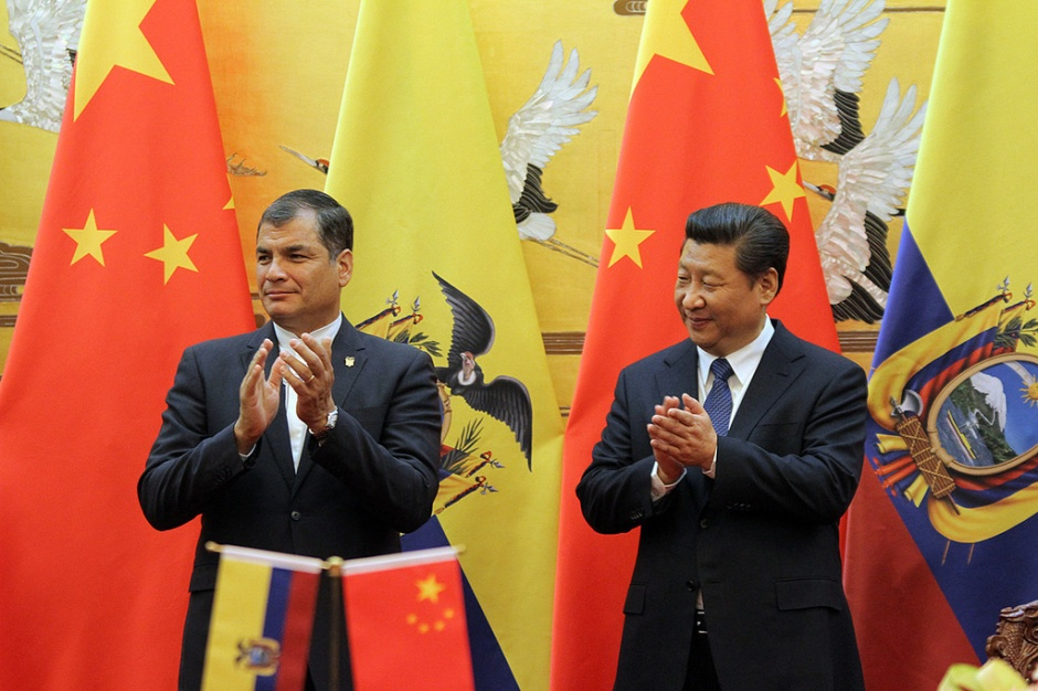Presidents of Ecuador and China.